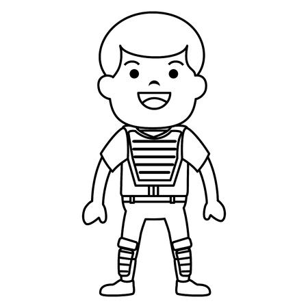 baseball player avatar character vector illustration design