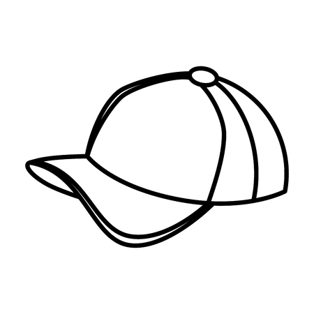 hat with visor: sport cap isolated icon vector illustration design