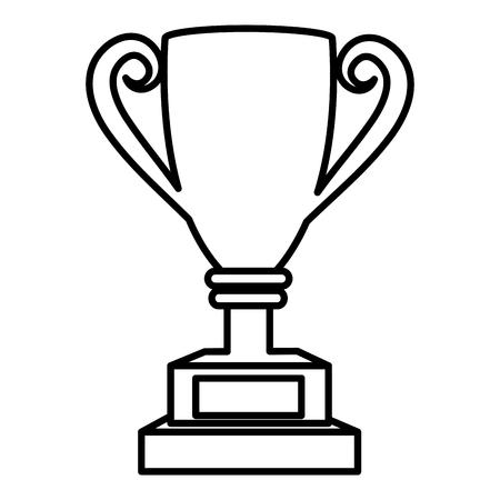 Taza del trofeo aislado icono de ilustración vectorial de diseño Foto de archivo - 76402026