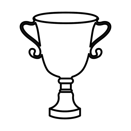 trophy cup isolated icon vector illustration design Zdjęcie Seryjne - 76402022