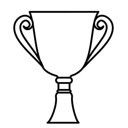 Taza del trofeo aislado icono de ilustración vectorial de diseño Foto de archivo - 76403322