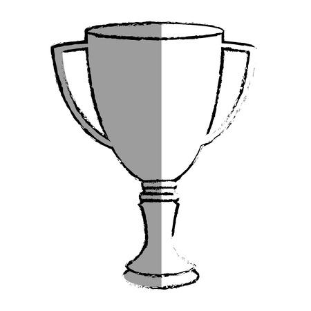 Taza del trofeo aislado icono de ilustración vectorial de diseño Foto de archivo - 76402027