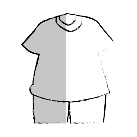 Sport tragen Kleidung Symbol Vektor-Illustration Design Standard-Bild - 76468416