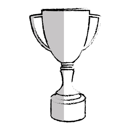 Trophy cup isolated icon vector illustration design