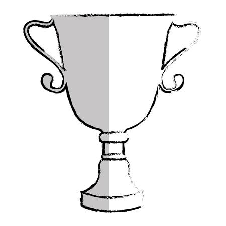 Taza de trofeo aislado icono de diseño de ilustración vectorial Foto de archivo - 76468431