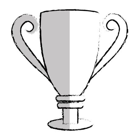 Taza de trofeo aislado icono de diseño de ilustración vectorial Foto de archivo - 76468438