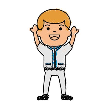 Baseball player avatar character vector illustration design Illustration