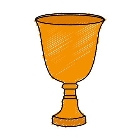 Taza de trofeo aislado icono de diseño de ilustración vectorial Foto de archivo - 76468478
