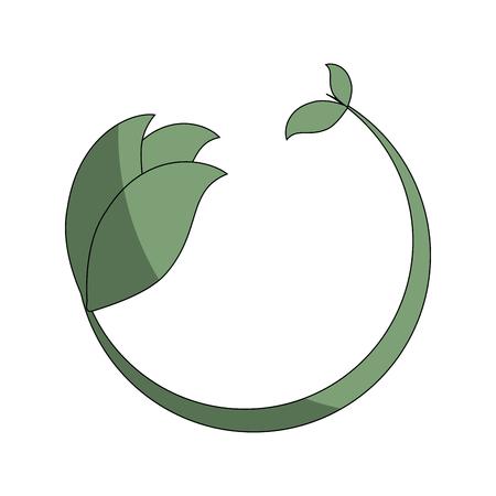 Leafs plante icône décoratif illustration vectorielle conception Banque d'images - 76539898