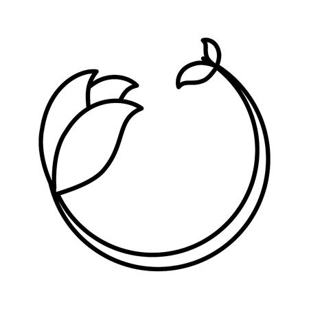 Leafs Plant Decorative Icon Vector Illustration Design Banque d'images - 76539906