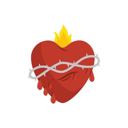 Sacred jesus heart icon vector illustration design Illustration