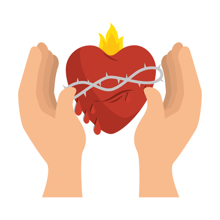 Sacred jesus heart icon vector illustration design Иллюстрация