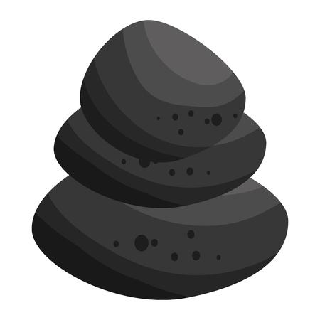 Rocks spa elements icon vector illustration design