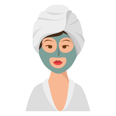 Woman in spa character vector illustration design