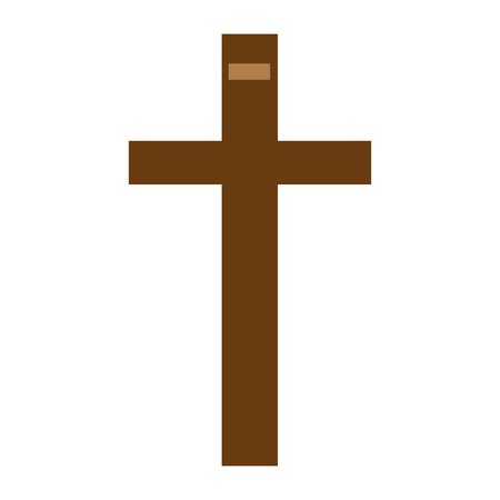 christian cross isolated icon vector illustration design