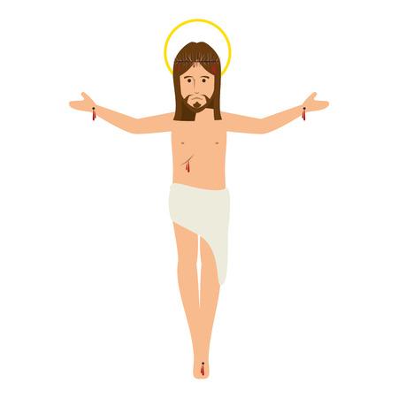 jesuschrist: jesuschrist avatar character icon vector illustration design Illustration
