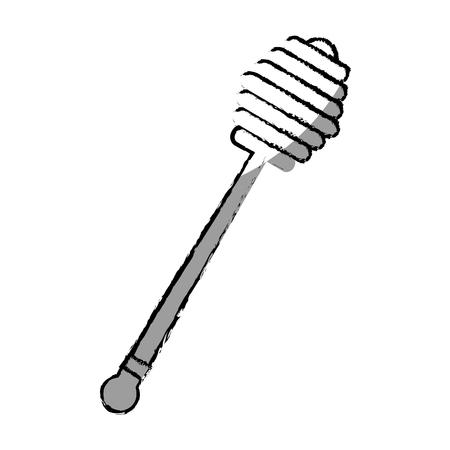 Cuillère de miel isolé icône vector illustration design Banque d'images - 76509759
