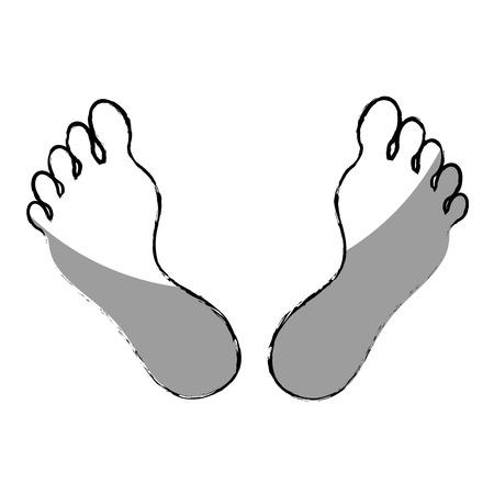 luxacion: Humano pie icono de la planta de diseño de ilustración vectorial
