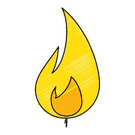 Fire flame isolated icon vector illustration design Ilustração
