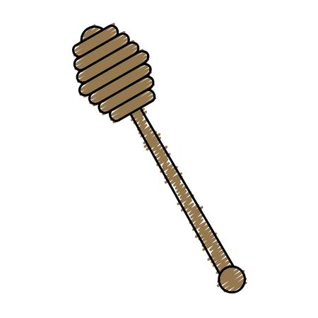 Honey spoon isolated icon vector illustration design