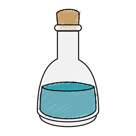 Lotion glass bottle icon vector illustration design