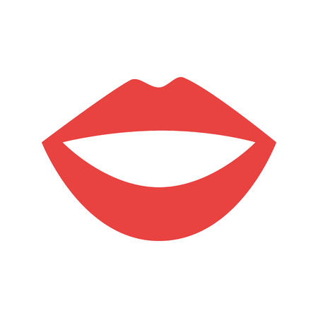 Female lips isolated icon vector illustration design