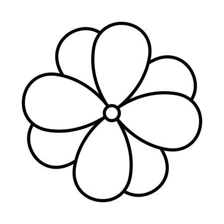 Leuke bloem geïsoleerd pictogram vector illustratie ontwerp