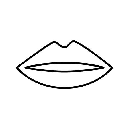 Female lips isolated icon vector illustration design