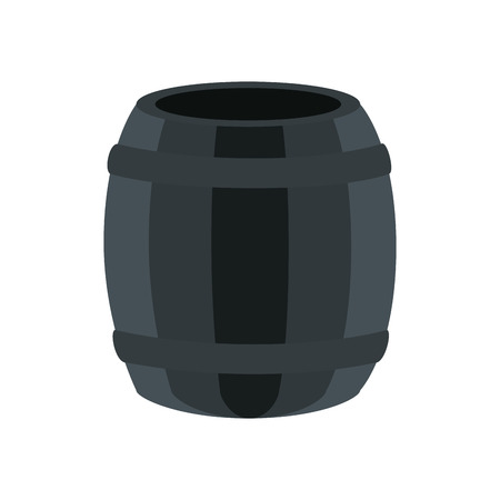 barrel icon over white background. vector illustration Ilustrace