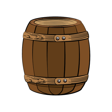 wooden barrel icon over white background. colorful design. vector illustration Stock Vector - 76522130