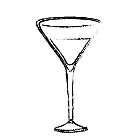 Wine glass icon over white background. vector illustration Illustration