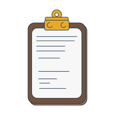Report document icon over white background. colorful design. vector illustration