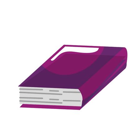 Livre académique icône sur fond blanc. design coloré. illustration vectorielle Banque d'images - 76538749