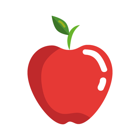 Apple fruit icon over white background. colorful design. vector illustration Illustration