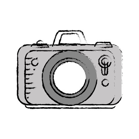 Photographic camera icon over white background. vector illustration Illustration