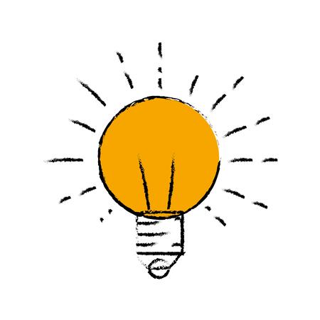 흰색 배경 위에 전구 빛 아이콘입니다. 화려한 디자인입니다. 벡터 일러스트 레이 션 일러스트