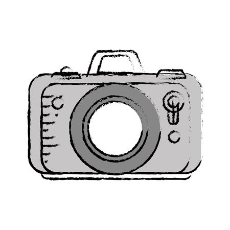 Photographic camera icon over white background. vector illustration Illustration