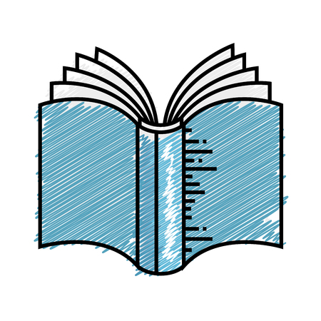 literature: Academic book icon over white background. colorful design. vector illustration