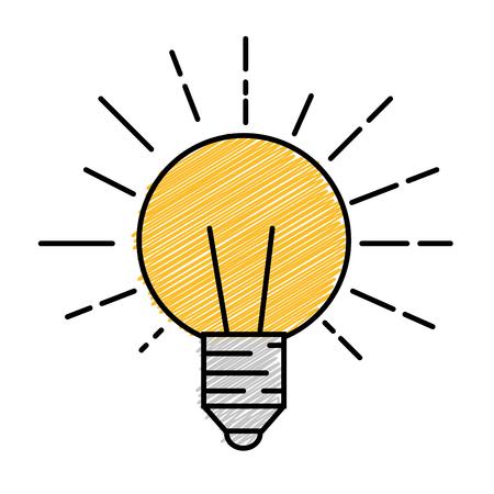 Bulb light icon over white background. colorful design. vector illustration Illustration