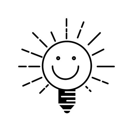 幸せな電球光漫画アイコン。 写真素材 - 76556744