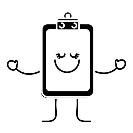 Happy report table icon.
