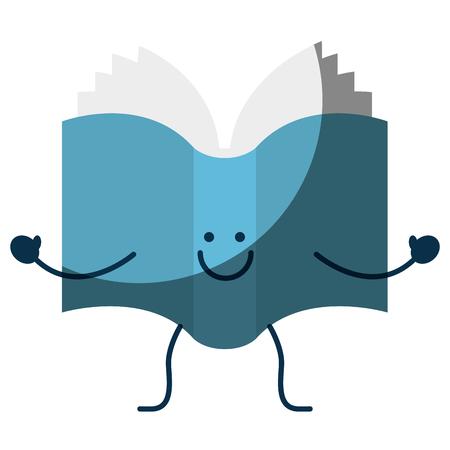 Livre heureux icône de bande dessinée . Banque d'images - 76556953