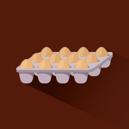illustraiton: set of eggs over red background. vector illustraiton