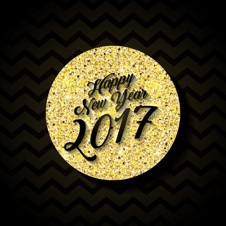 happy new year text: Happy new year 2017 card. colorful design. vector illustration Illustration