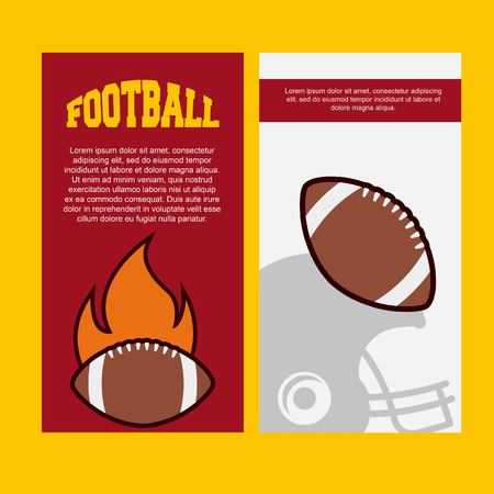 infographic presentation of american football sport . colorful design. vector illustration Ilustração