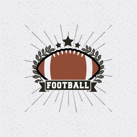 american football ball sport equipment. colorful design. vector illustration