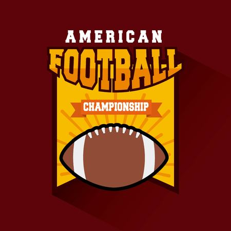 championship american football ball. colorful design. vector illustration