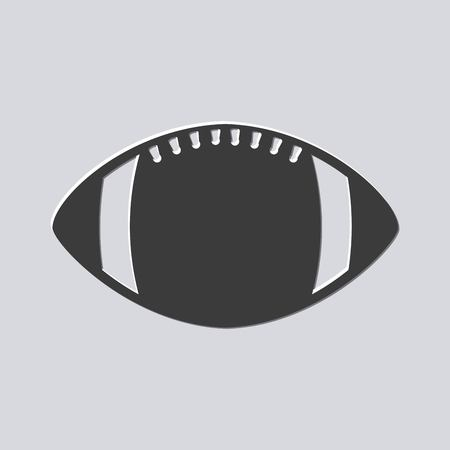 American football bal sportuitrusting. vectorillustratie