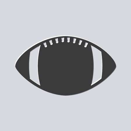 Ball-Sportausrüstung des amerikanischen Fußballs. Vektor-Illustration Standard-Bild - 76548520