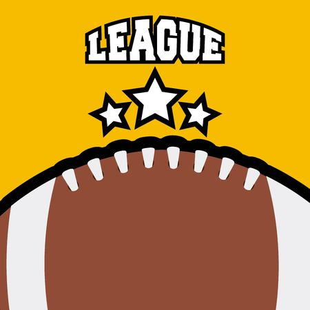 american football ball icon over yellow background. colorful design. vector illustration Ilustração